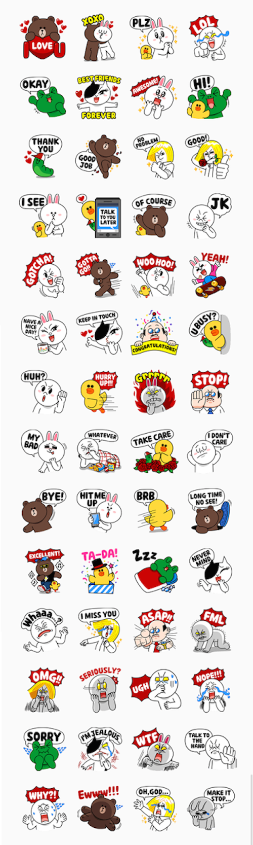 Free-LINE-characters-Love-U-Stickers-In-US