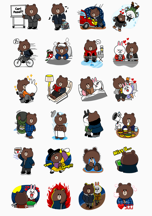 Free-Brownʹs-Love-Story-Line-Sticker-In-China-1
